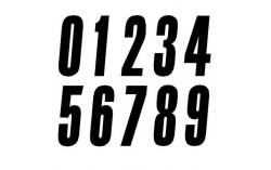 numero de plaque noir