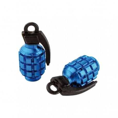 Bouchon valve grenade bleu