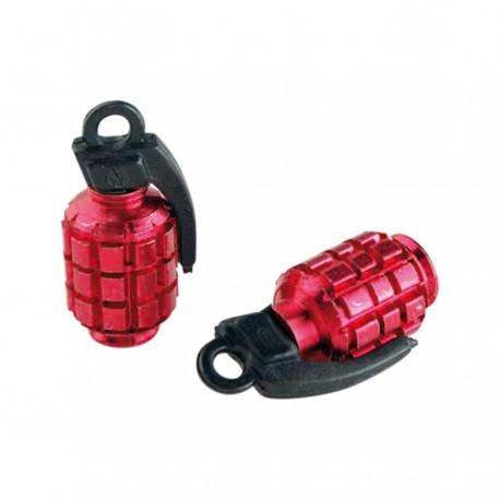 Bouchon valve grenade rouge