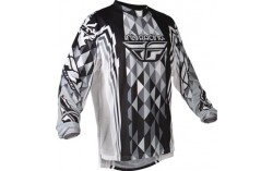 MAILLOT FLY KINETIC NOIR BLANC