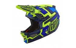 CASQUE D3 FIBRE SPEEDCODE YELLOW/BLUE